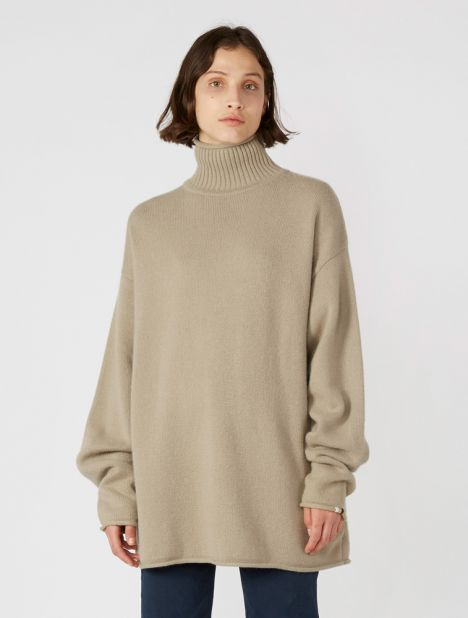 n°100 Hippy Cashmere Sweater - Dust