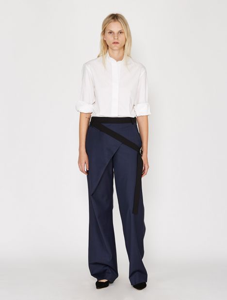 Angled Waistband Trouser