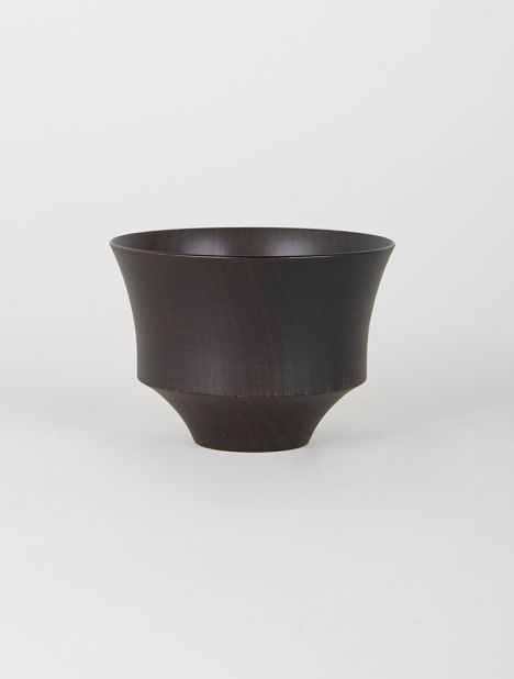 Tsumugi Wooden Bowl - Koma Black