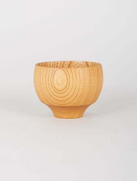 Tsumugi Wooden Bowl - Mari Natural