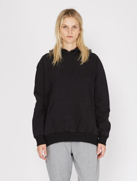 Exaggerated Seam Hooded Sweater