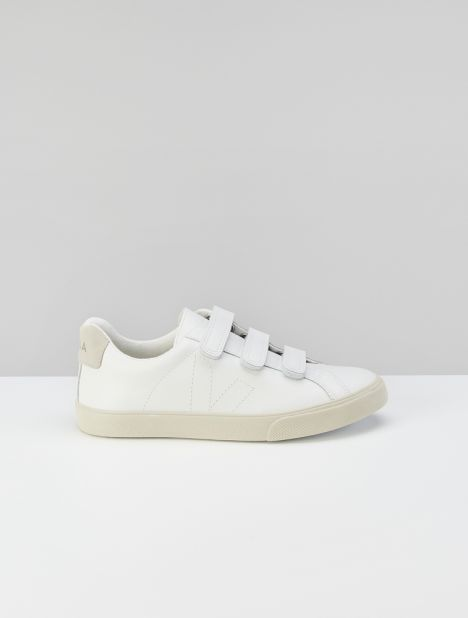 3-Lock Leather Sneaker - Extra White