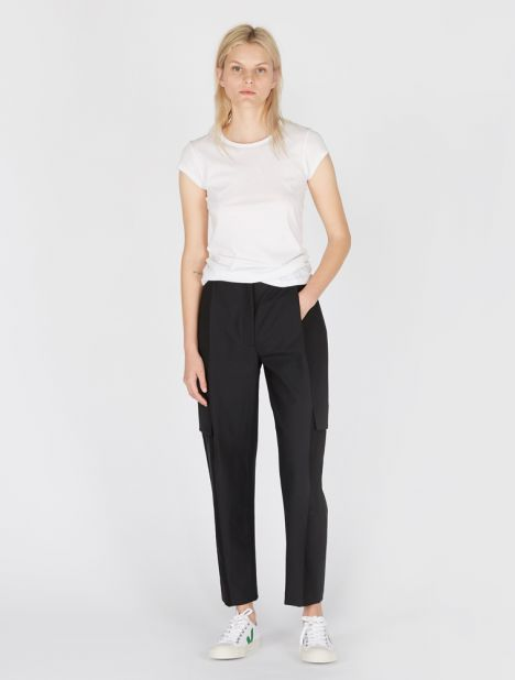 Faille Combo Wool Pant