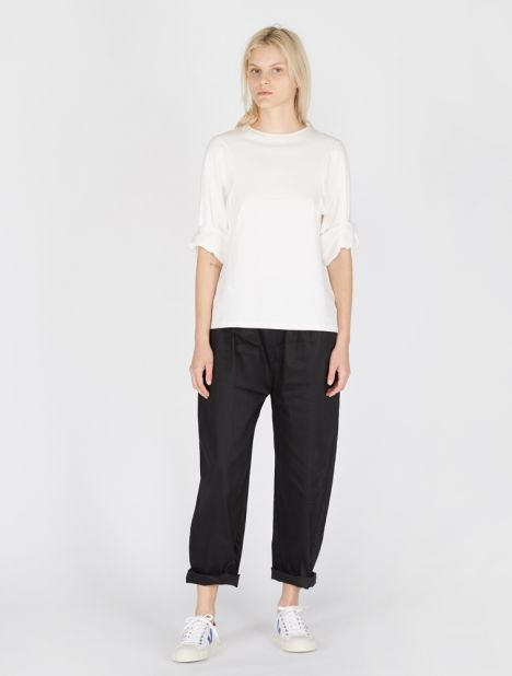 Paros Cotton Trouser - Black