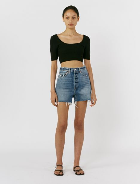 '50s Cutoff Denim Short - Worn Blue