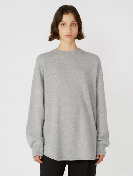 n°53 Crew Hop Cashmere Sweater - Grey
