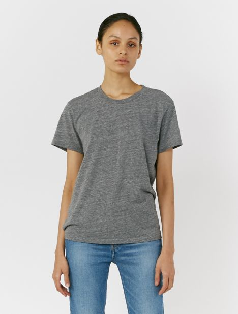 70's Recycled Loose Tee - Heather Grey