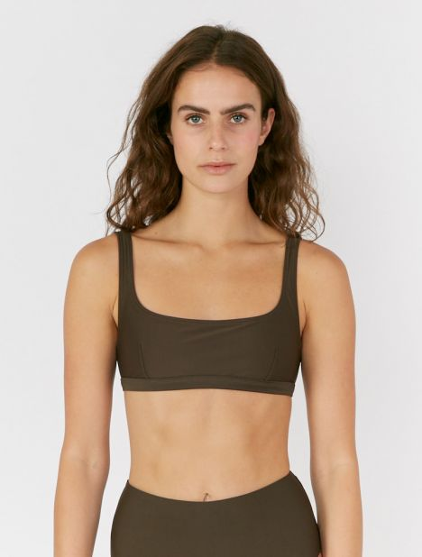 Nineties Bikini Crop Top - Thyme