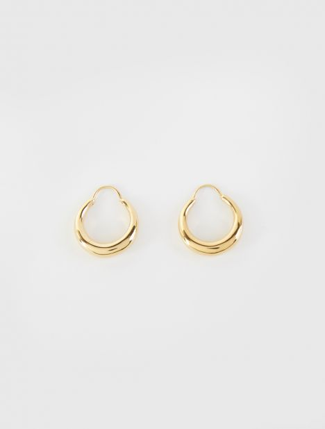 Fat Baby Snake Earring - Gold