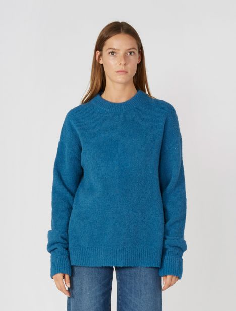 Airy Alpaca Sweater - Blue