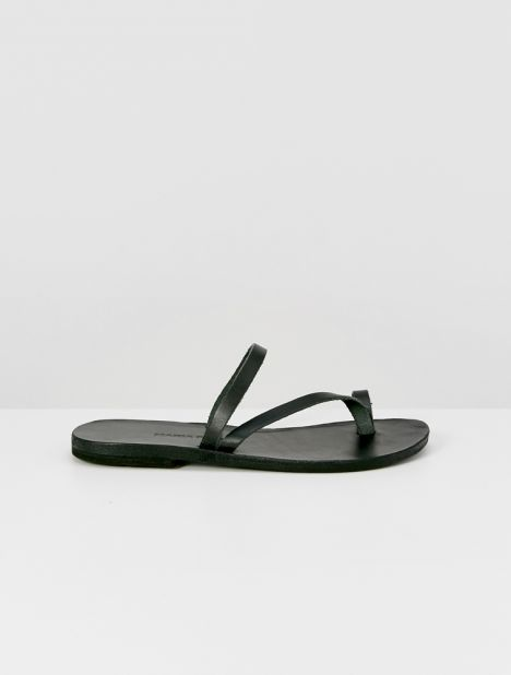 Alina Leather Sandal - Black