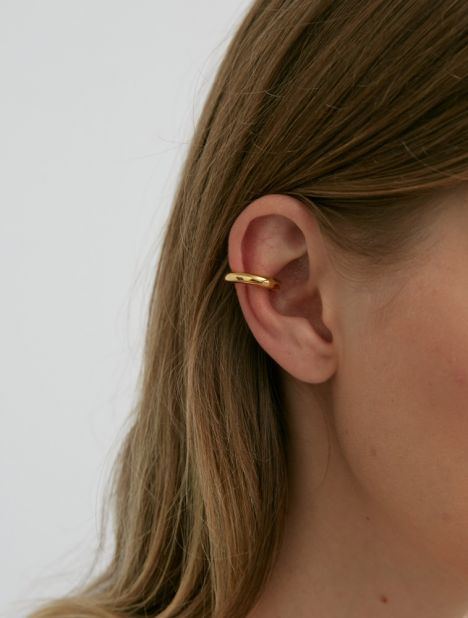 Thin Almost Ear Cuff - Gold