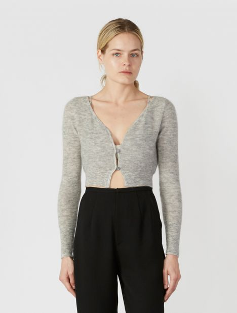 Alzou Cropped Cardigan