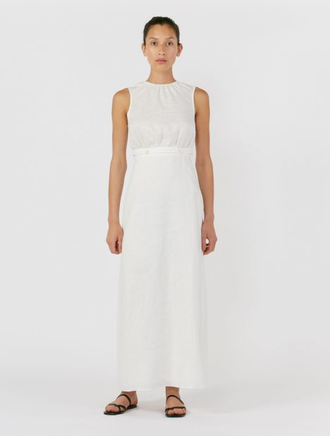 Ambroise Gathered Linen Dress