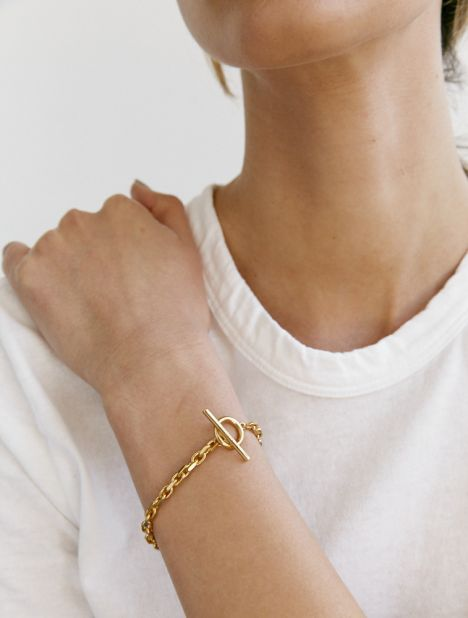 Anchor Chain Bracelet - Gold