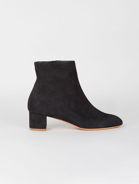Suede Ankle Boot - Black