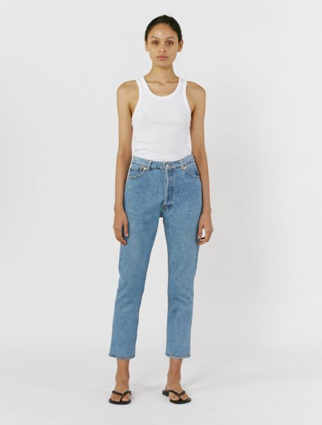 X Levis High-Rise Ankle Crop Jean - Indigo