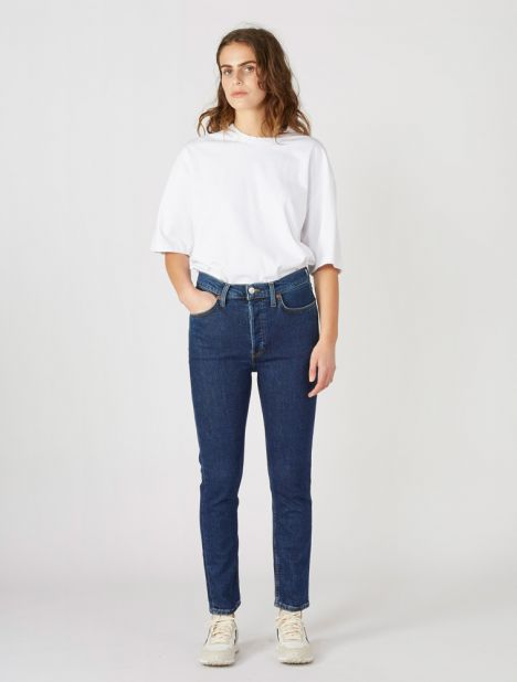 Originals High Rise Ankle Crop Jean - Dark Indigo