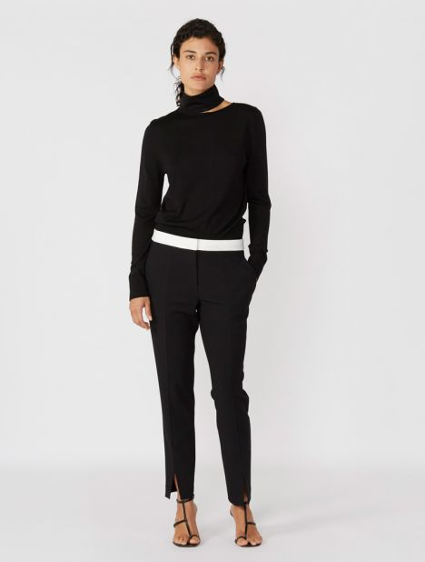 Anson Tailored Pant - Black/Ivory