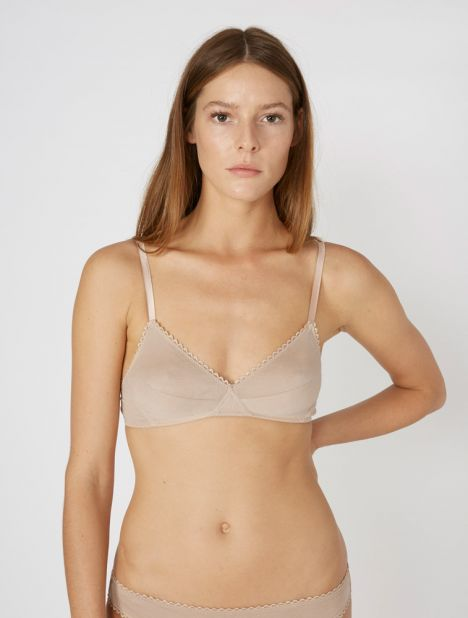 Antonia Cotton Bralette - Nude