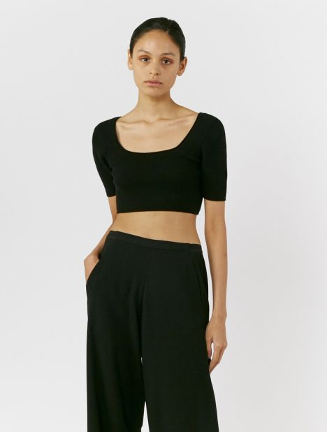 Arancia Knitted Crop Top