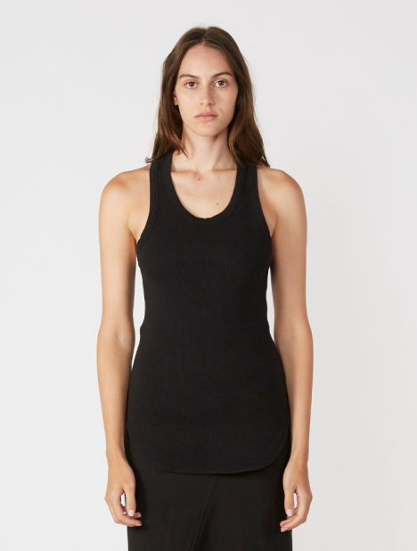 Athletic Rib Tank - Black
