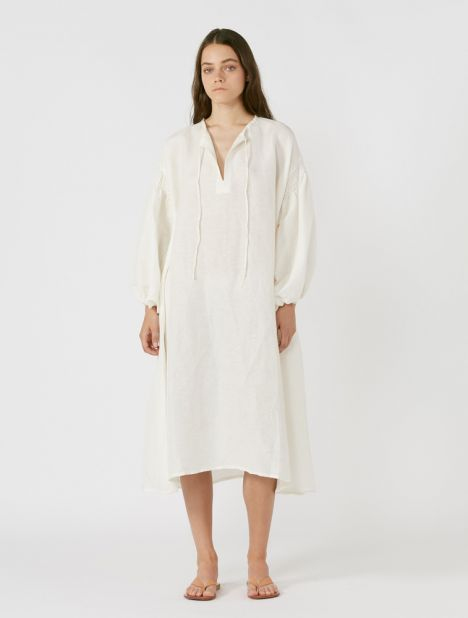 Aurelien Silk Linen Dress