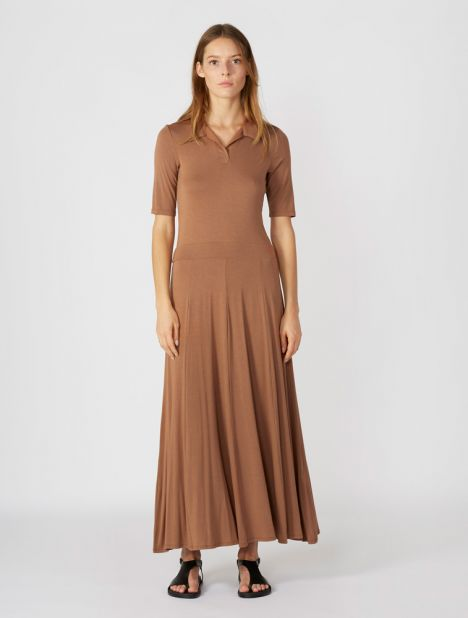 Azul Polo Dress - Camel