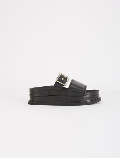 Babe Leather Platform Sandal
