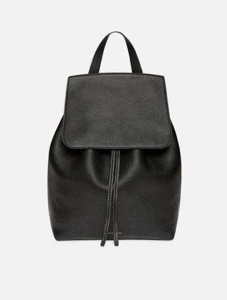 Tumble Leather Backpack - Black