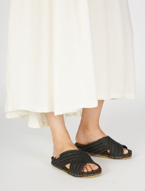 Exclusive | Balears Natural Jute Sandal - Black