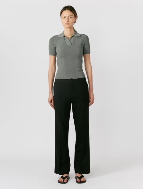 Crepe Bandless Tailored Pant
