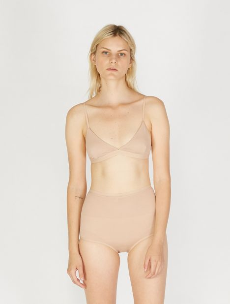 Bamboo High-Waist Bell Brief - Nude