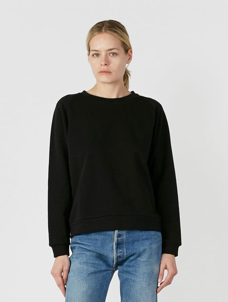 Organic Cotton Basic Sweatshirt - Black