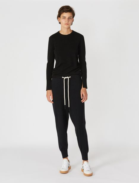 Cotton Blend Knit Trackpant