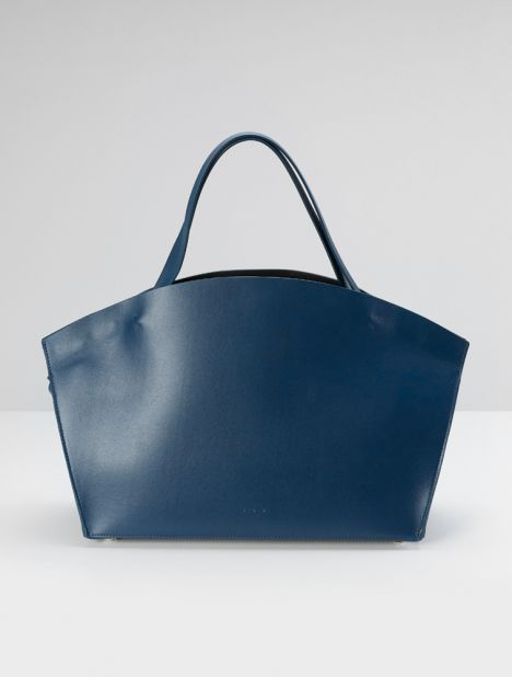 Beach Cabas Leather Tote - Cobalt