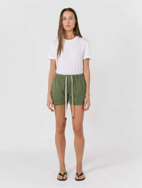 Double Jersey Beach Short - Olive