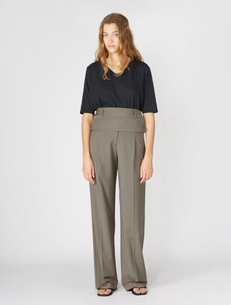 Double Belted Wool Trouser