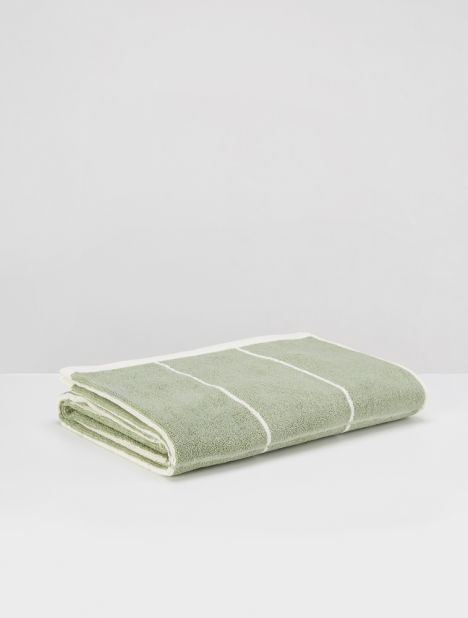 Bethall Organic Cotton Bath Towel - Sage / Chalk