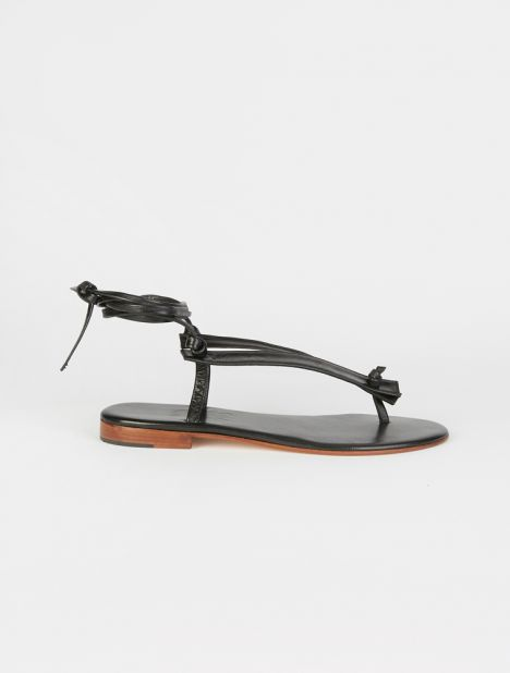 Bibiana Leather Wrap Sandal