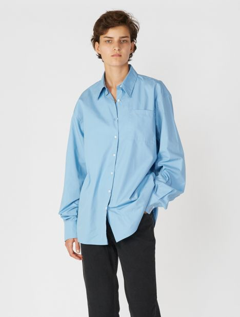 Blaze Oversized Shirt - Ocean Blue