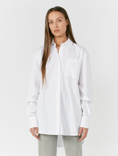 Blaze Oversized Organic Cotton Shirt - White