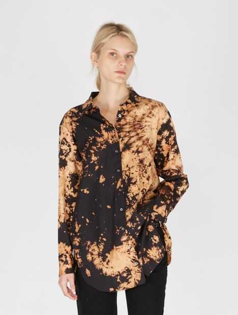 Bleached Cotton Loose Shirt