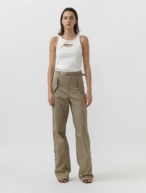 Belted Blouson Pant