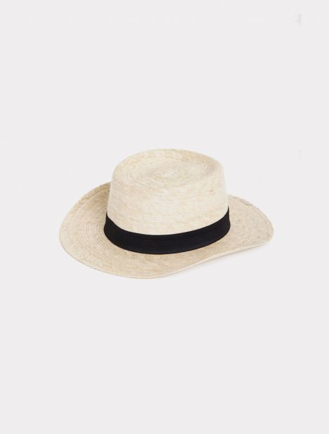 Boater Palm Straw Hat