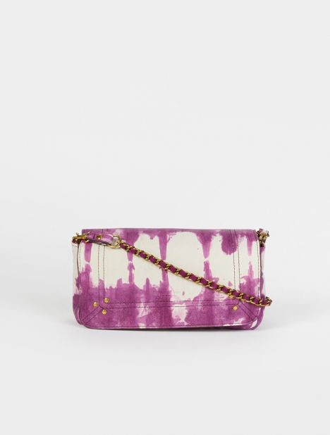 Bob Leather Shoulder Bag - Violet Tie-Dye