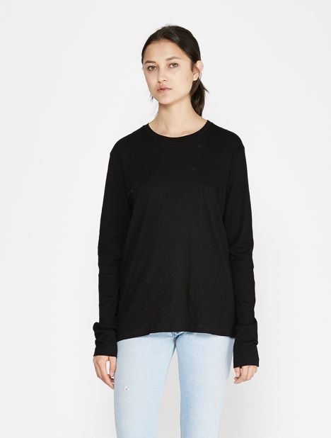 Long Sleeve Boy Tee - Black