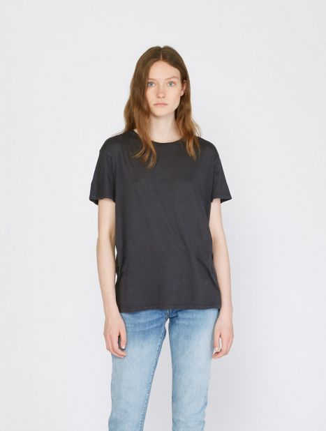 Cotton Cashmere Boy Tee - Washed Black