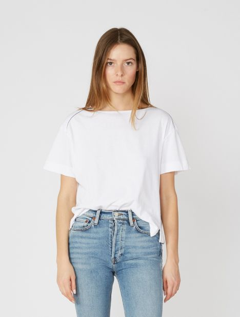 Boxy Sailor T-Shirt - White