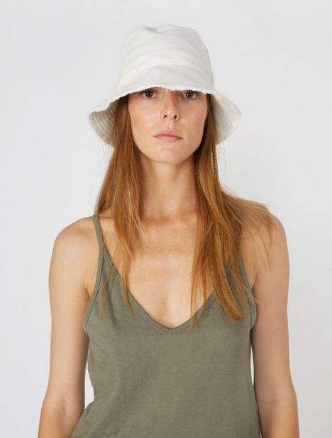 Raw Textured Bucket Hat
